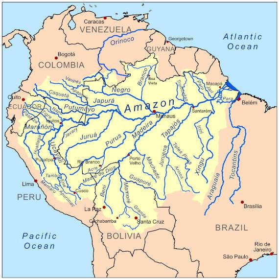 bacia amazônica região de pesca na Amazônia
